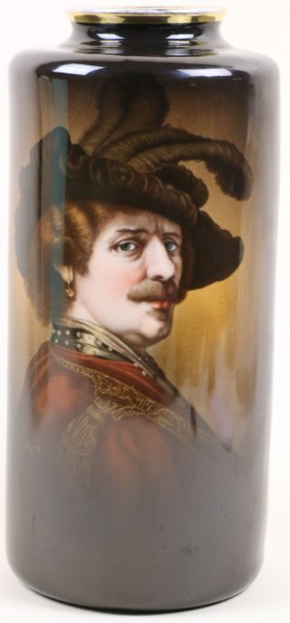 IMPERIAL AUSTRIAN PORTRAIT TALL VASE