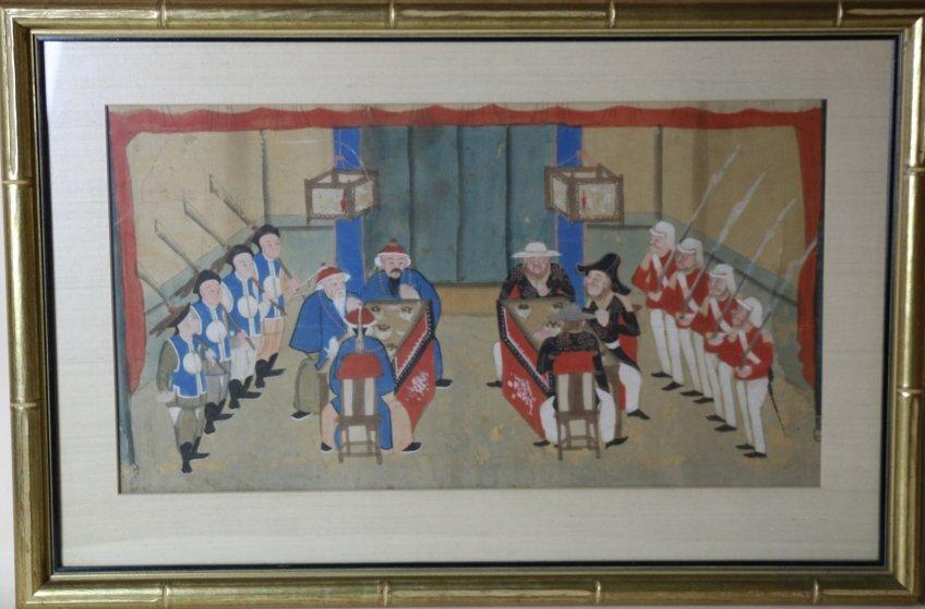 CHINESE / BRITISH 1840'S TREATY OF HONG KONG