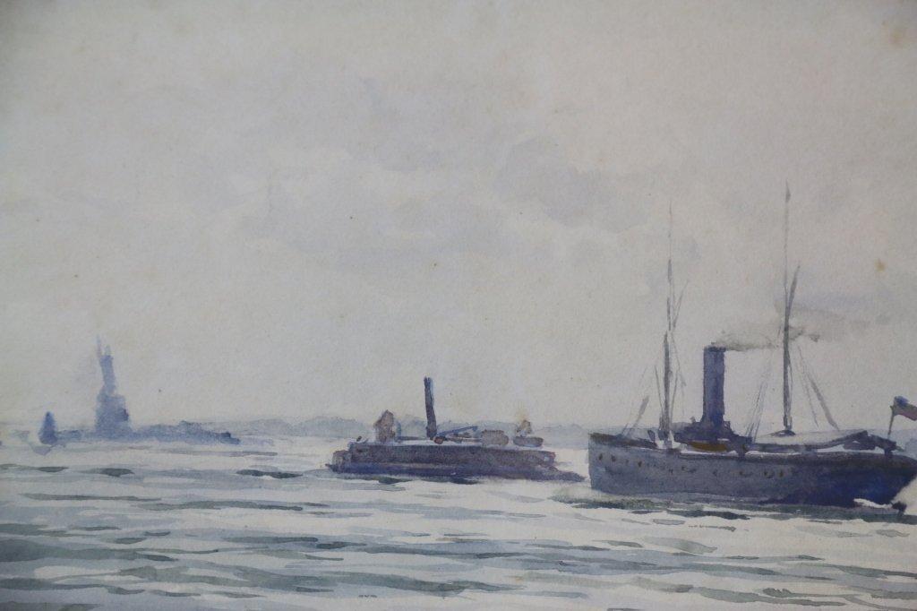 WILLIAM AYERST INGRAM (1883-1906) W/C NY HARBOR