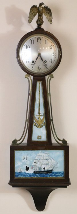SETH THOMAS AMERICAN NAVAL THEME BANJO CLOCK