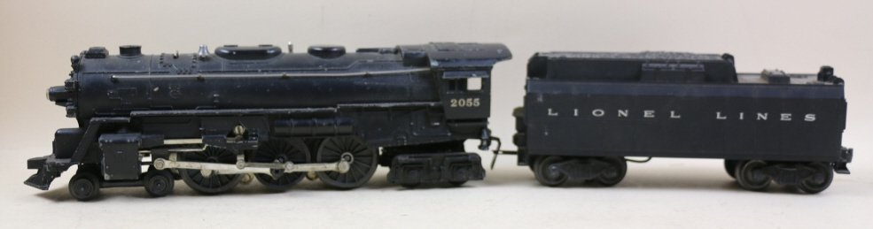 LIONEL LINES STEAM ENGINE AND COAL CAR 2055
