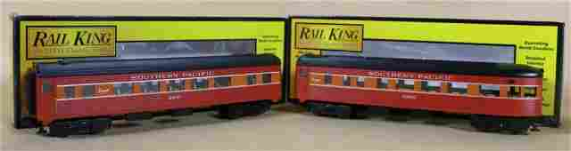 MTH RAIL KING SOUTHERN PACIFIC OBSERVATION CARS