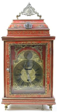 ENGLISH 17TH /18TH C. ANTIQUE CHINOISERIE CLOCK