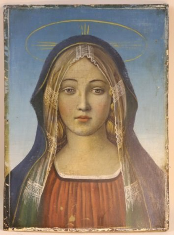 ANTIQUE ICON ON BOARD