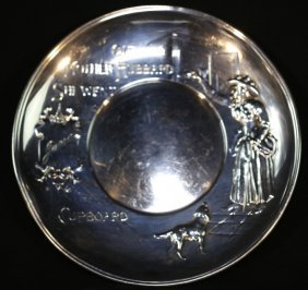 Sterling Silver (hardy & Hayes) Childs Plate