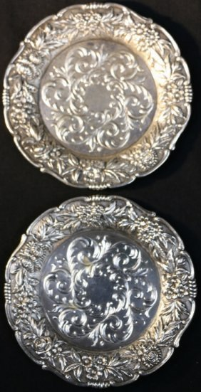 S. Kirk & Son Sterling Repousse Service Plate Set
