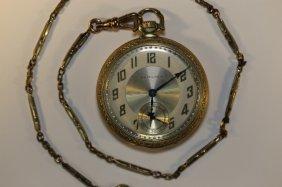Hamilton 17 Jewel Pocket Watch W/ Chain Fob