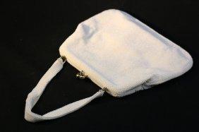 Vintage Sea Pearl Beaded Ladies Evening Bag