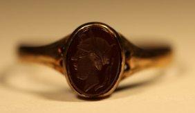 Antique Gold Intaglio Ladies Ring