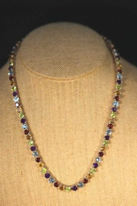 75 Carat Semi Precious & Sterling Silver Necklace