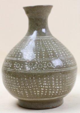Chinese Antique Celedon Vase