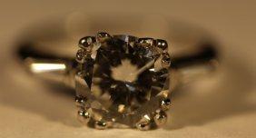 2.01 Carat & Platinum Vintage Deco Diamond Ring