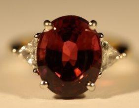 18kyg, Platinum,tourmaline & Diamond Trillian Ring
