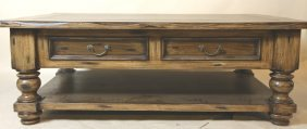 Contemporary Distressed Coffee Table