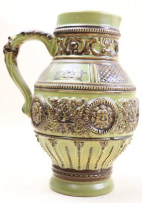 German Antique Salt Glazed Pitcher