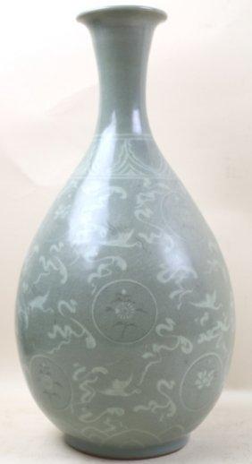 Chinese Palatial Celedon Vase