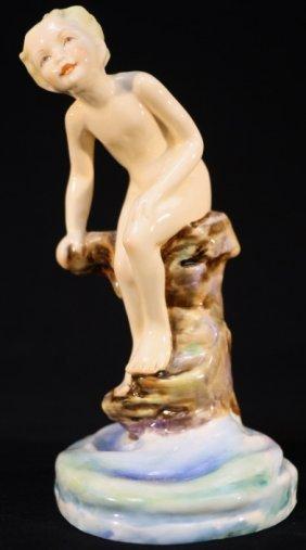 "Royal Worcester ""water Baby"" Porcelain Sculpture"
