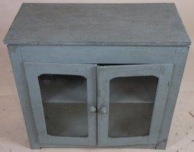 Primitive Antique Painted Two Door Cabinet