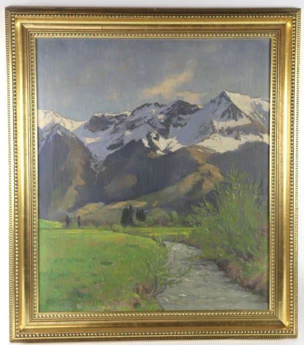 GOTTFRIED LUSCHER (1881-1975) 1925 OOC