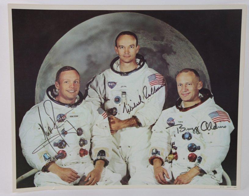 NASA  APOLLO 11 PORTRAIT WITH SIGNATURES