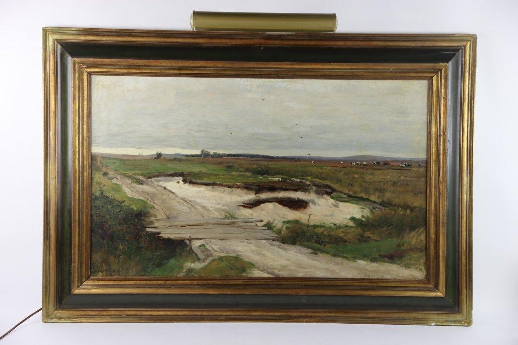 EUGEN BRACHT (1842-1921) LANDSCAPE OOC