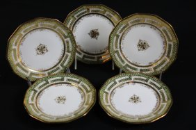 Nippon Antique Handpainted Porcelain Grouping