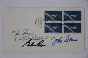 Nasa 1962 Signed And Stamped Postcard
