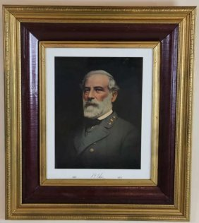 Robert E. Lee Vintage Framed Portrait