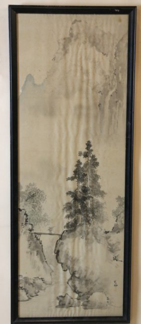 Chinese Antique Framed Watercolor
