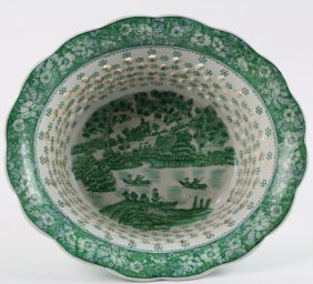 Chinese Export-style Filigree Bowl