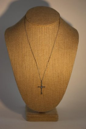 Sterling Silver Cross On Chain