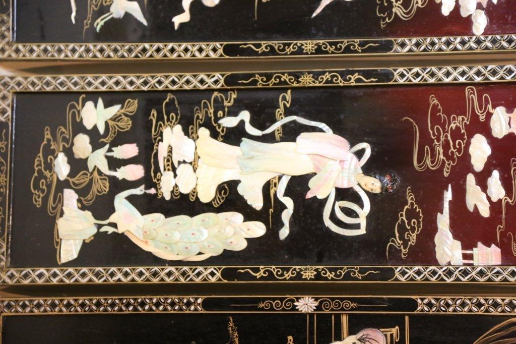 ASIAN CHINOISERIE HARD STONE PANEL PAIRS - 6