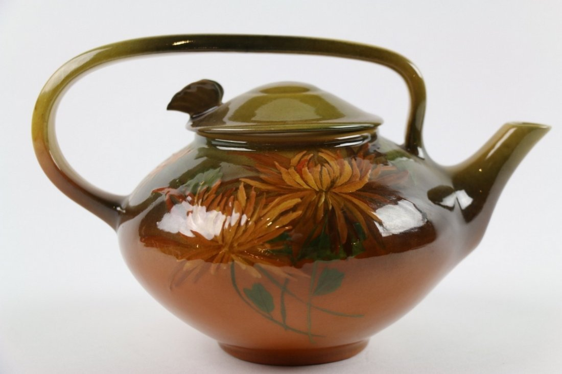 ROOKWOOD ANTIQUE CHRYSANTHEMUMS TEAPOT