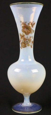 FRENCH  ANTIQUE GROUPING OF TWO OPALINE VASES - 4