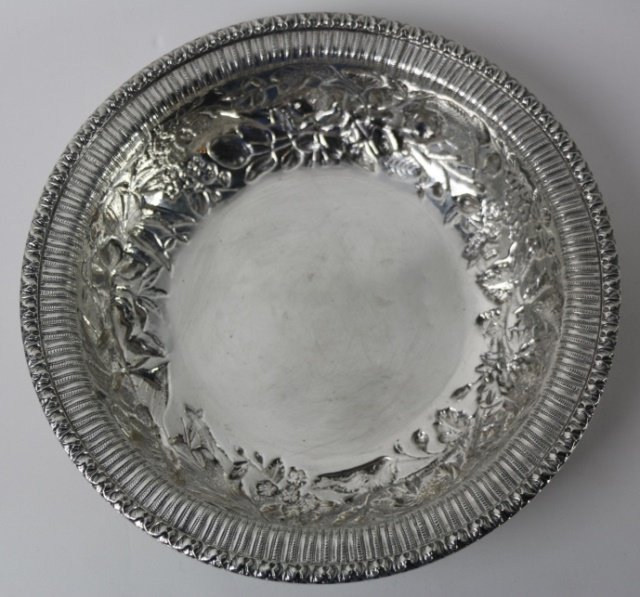 S. KIRK & SON STERLING SILVER LARGE REPOUSSE BOWL - 2