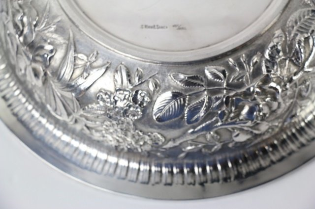 S. KIRK & SON STERLING SILVER LARGE REPOUSSE BOWL - 4