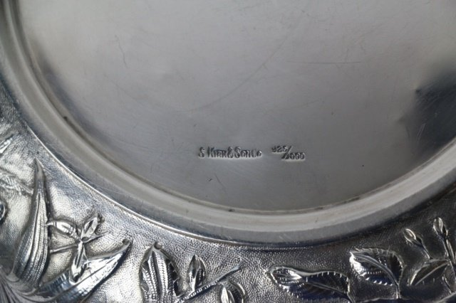 S. KIRK & SON STERLING SILVER LARGE REPOUSSE BOWL - 5