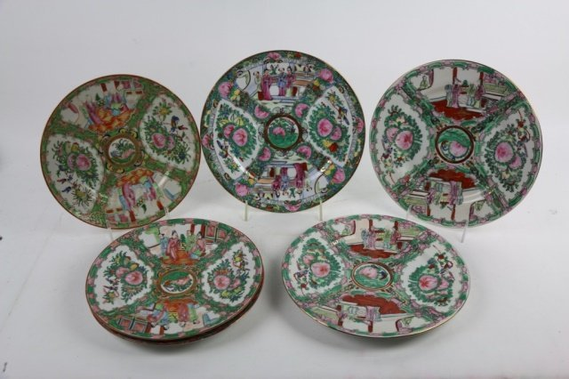 CHINESE ROSE MEDALLION GROUPING - 2