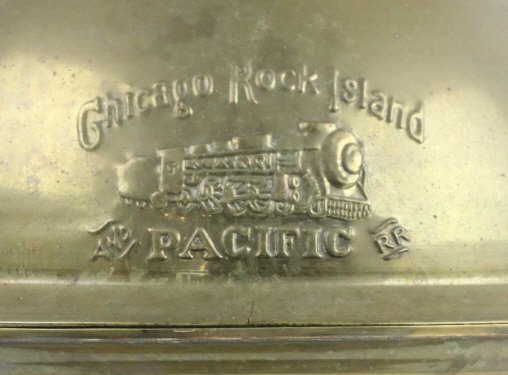 CHICAGO ROCK ISLAND PACIFIC RAILROAD  BRASS CAN - 2