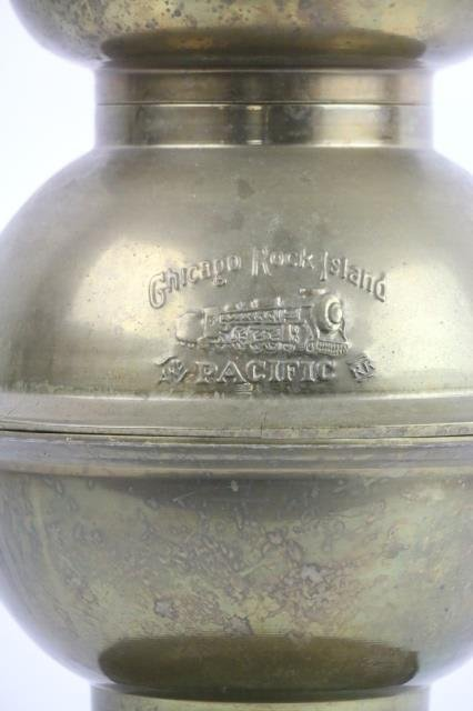 CHICAGO ROCK ISLAND PACIFIC RAILROAD  BRASS CAN - 5