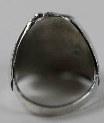 NATIVE AMERICAN STERLING SILVER TURQUOISE  RING - 5