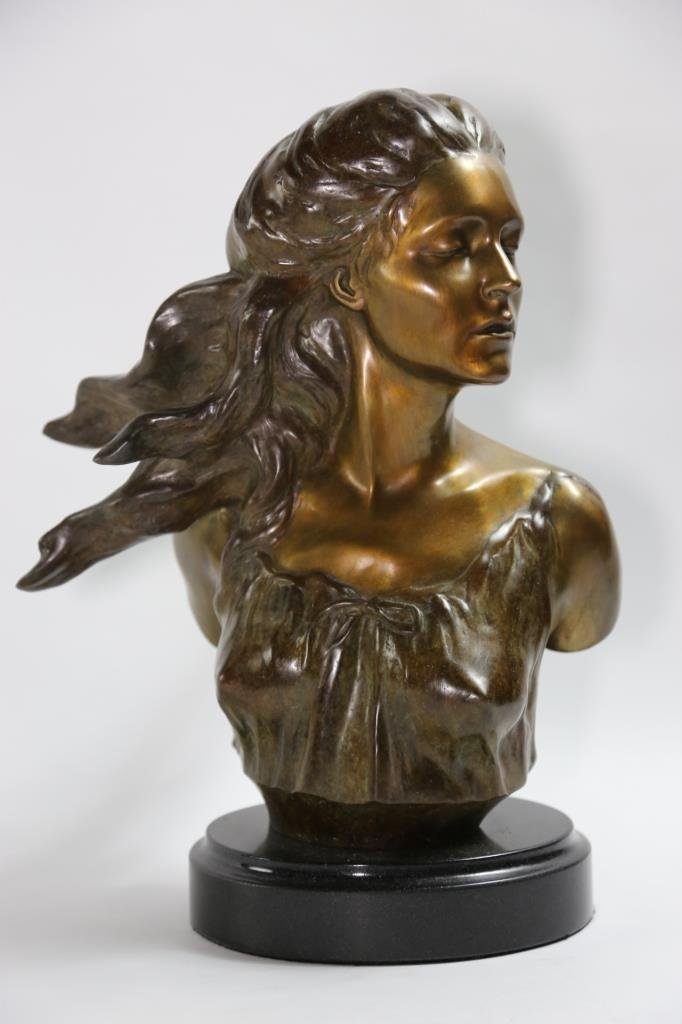 FREDERICK HART(1943-1999) BRONZE BUST MUSES SUITE