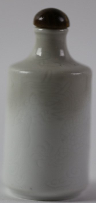 CHINESE ANTIQUE BLANC DE CHINE SNUFF BOTTLE - 6