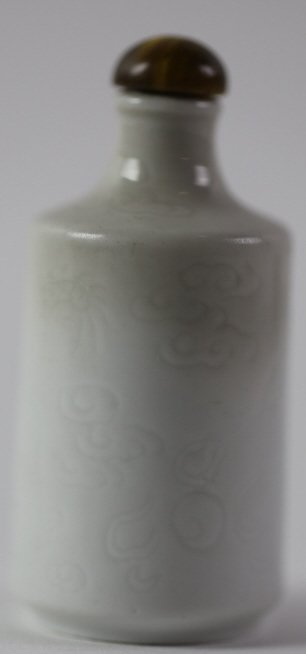 CHINESE ANTIQUE BLANC DE CHINE SNUFF BOTTLE - 7