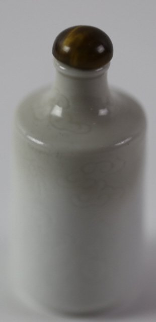 CHINESE ANTIQUE BLANC DE CHINE SNUFF BOTTLE - 8