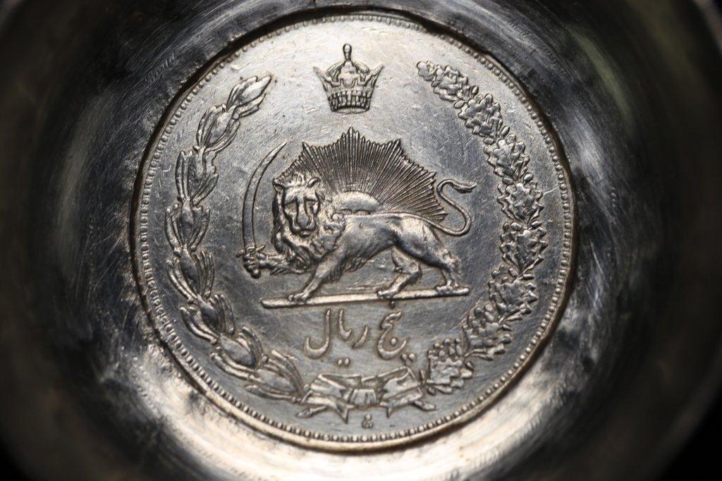 PERSIAN ANTIQUE COIN CENTER SILVER BOWLS - 6