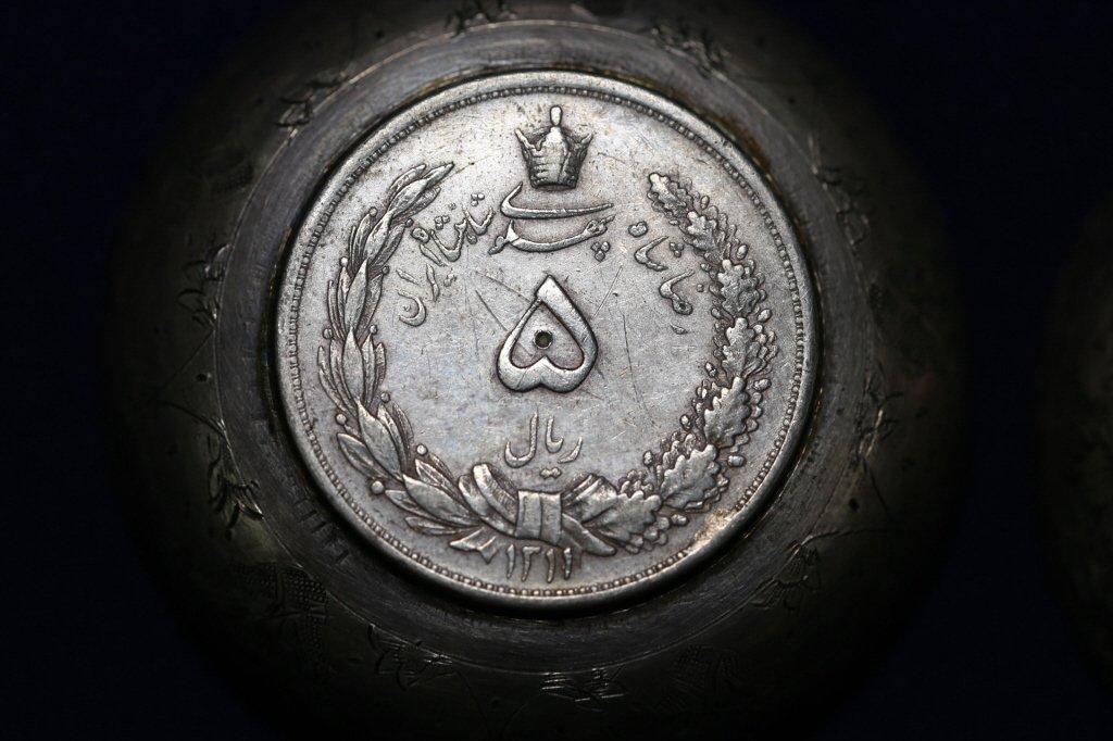 PERSIAN ANTIQUE COIN CENTER SILVER BOWLS - 8