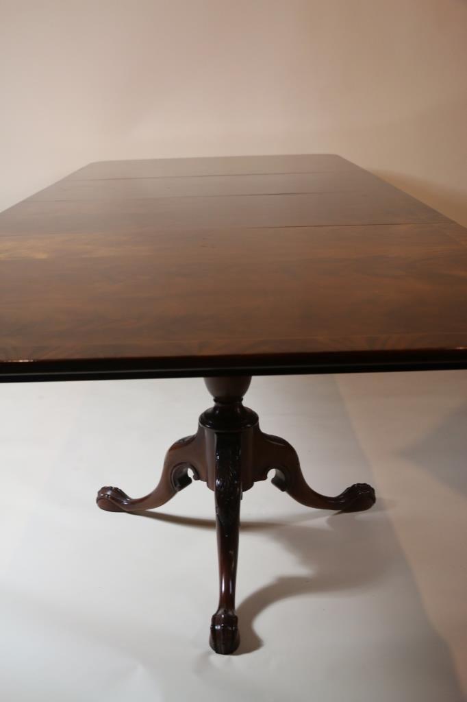 ENGLISH BENCH MADE FINE MAHOGANY DINING TABLE - 5