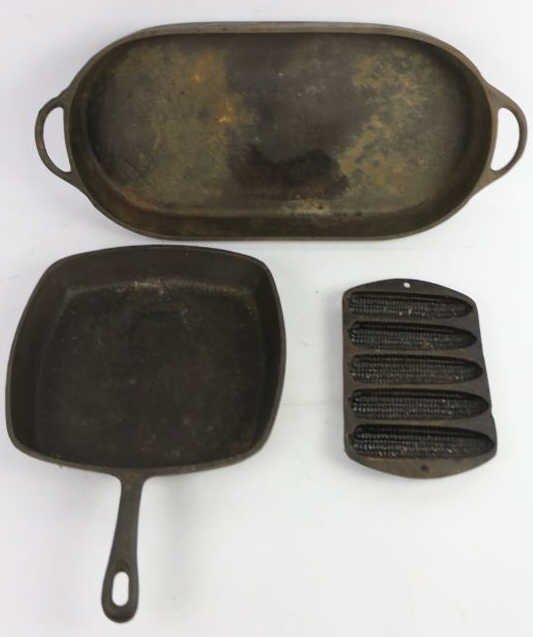 VINTAGE CAST IRON GROUPING