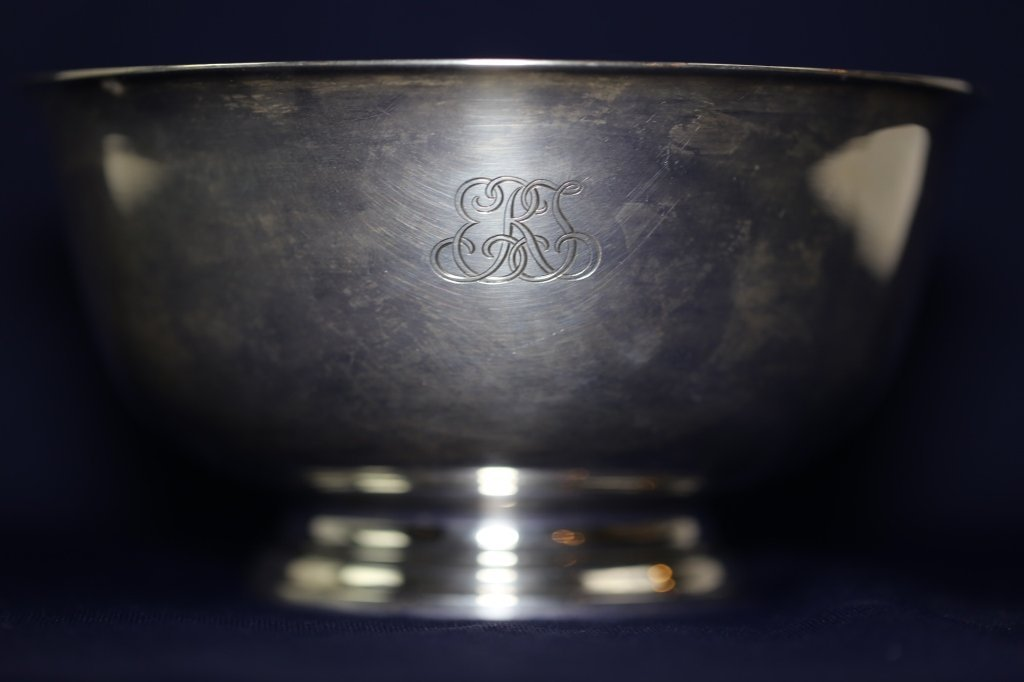 TIFFANY & CO. MAKERS STERLING SILVER BOWL - 4